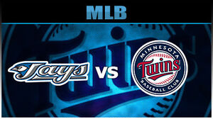 3 tickets to Blue Jays vs. Minnesota Twins game friday aug 26