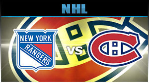 CANADIENS vs RANGERS - GAME 5 PLAYOFF TICKETS - WHITES & REDS