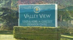 Valley View Cemetery - 2 side by side plots (save $8k)