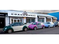 DM Coachworks in Glasgow, UK, are recruiting Mechanics, Panel Beaters, Spray Painters and Valeters.