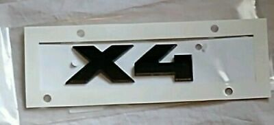 Gloss Black X4 Rear Boot Lid Badge Emblem Numbers Letters Compatible For X Series F26 G02