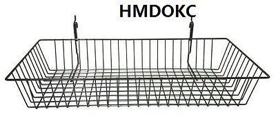 6 Pcs Gridwall Slatwall 24x12x4 Baskets Gridwall Hook Accessory Display Fixture