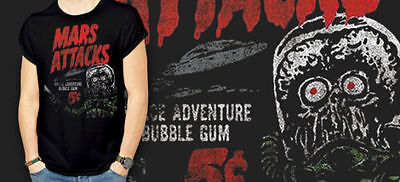 MARS ATTACKS space adventure bubble gum 5 cents Tee T-Shirt NEW yellow or black