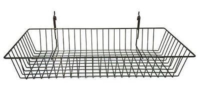 5 Black Medium Basket For Slatwallgridwallpeg Board