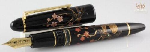 Sailor Limited Edition 1911 Realo Hana Maki-e Ume Fountain Pen Beautiful Design!