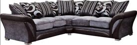 🎆💖🎆Best Price Offered🎆💖🎆FABRIC & FAUX LEATHER LEFT / RIGHT CORNER | 3 2 SEATER GREY