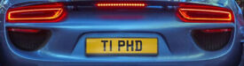 T1 PHD Private number plate, ideal for your PhD doctorate