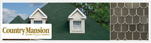 GAF Country Mansion Moss Green Shingles