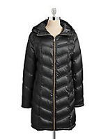 Calvin Klein down fill long packable coat (New)