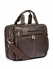 Kenneth Cole Reaction bag real leather laptop case