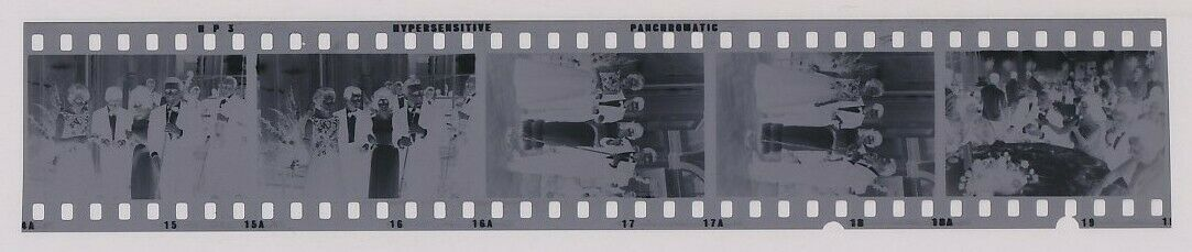 Strip Of 5 1960 Original Photo Negative ELIZABETH TAYLOR Hollywood Gala Party - $69.00