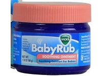 Brand New! Unopened! Vicks Baby Rub Soothing Ointment