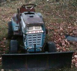 83 Ford LGT 125. Plow not included