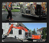 Specialiste   Demolition Excavaion  Egout  Asphalte Deneigement