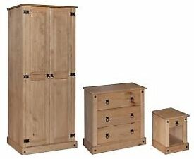 Top Quality Tri Bedroom Set : Wardrobe, Chest & Bedsite
