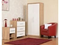 NEW bedroom set Wardrobe, Chest of drawers & Bedside Only £199 ALL IN STORE
