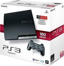 Brand New Sony PlayStation 3 Slim Black 160 GB Console+Controller