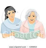 Home Support & Companion Care available Immediatly!