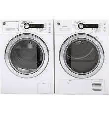 GE 24 INCH COMPACT WASHER & DRYER SET. ( WCVH4800KWW & PCVH480EKWW ) NEW. SUPER SALE $1199.00 NO TAX.