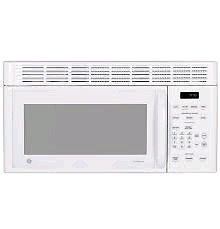 GE micro-ondes hôte blanc - over the range microwave white