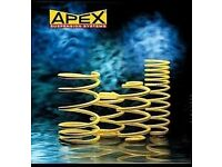 apex lowering springs 20-1200 bmw e46 compact 2001-05 lowers 35mm