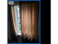 Lined eyelet curtains - 167cm width (per curtain) and 73 cm drop