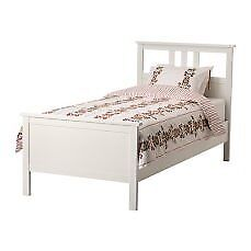 SINGLE Hemnes white solid wood bed frame/base/slats (200x104), excellent condition, only £100