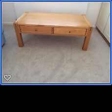 Oak Coffee Table Large with Drawers