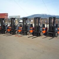 FORKLIFTS,ELECTRIC AND PROPANE OVER 100 FORKLIFT IN STOCK