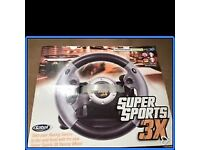 Datel Super Sports 3X Steering Wheel (Xbox360/PS3/PC)