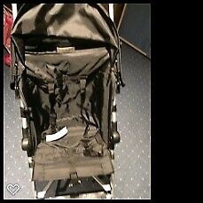 baby start stroller/pushchair, black with basket at the bottom, used 3 times , clean, simple
