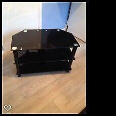 Black Glass slimline TV Stand for sale