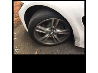 "18"" Original BMW 4 Series Alloy Wheels with premium tyres (2 are almost new)"