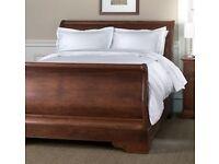 Restoration Hardware Portman Sleigh Bed with Footboard in Dark Cherry (US Queen size)