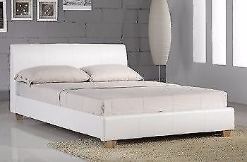 Bed Frames & Divan Bases Helpful 4ft6 Double Size Leather Beds Black/ Brown/ White Beds & Mattresses