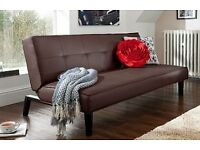 Sofabed - Black Faux Leather (click clack style) - sofa and a bed :)