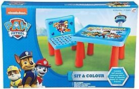 Brand new paw patrol sit & colour table chair