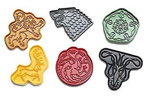 HBO Game of Thrones GOT sigil cookie cutters decoration dragon