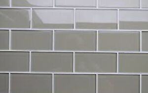 "3x6"" Bliss Smoke Glass Subway tile WOW $3.99 SF Windsor Region Ontario image 2"