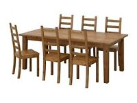 IKEA STORNAS extendable table and 4 INGOLF chairs (only 15 months old)