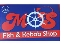 Staff required at at fish and kebab takeaway