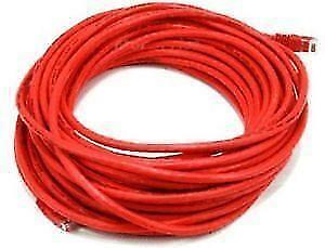 50 ft. Red High Quality Cat 6 550MHz UTP RJ45 Ethernet Bare Copper Network Cable