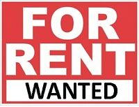 WANTED: house for rent by the fall