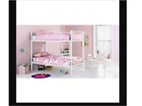 Brand new still in box white metal bunk beds