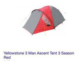 Yellowstone 3 Man Ascent Tent 3 Season