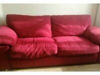 Red 3-seater sofa - £70 ono