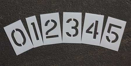 Rae Stl-116-8030 Pavement Stencil,3 In,Number Kit,1/16