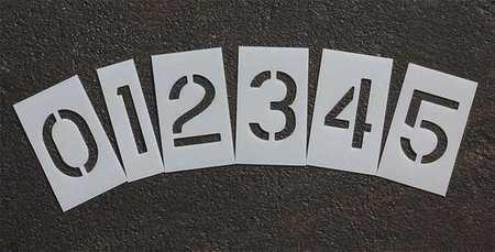 Rae Stl-116-8020 Pavement Stencil,2 In,Number Kit,1/16