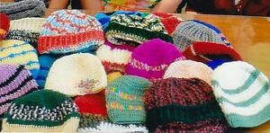 Wool or Yarn to Knit or Crochet Hats and Scarves for Gleaners
