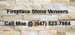 Beachwood Light Fireplace Stone Veneer Fireplace Wall Cladding